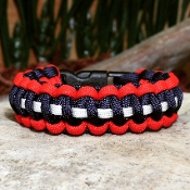 Red/ Blue with stripe Paracord Bracelet