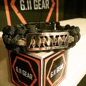 US Army - laser Cut OD Green/Coyote Brown Paracord