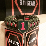 US Army - 1st ID Concho Paracord Bracelet