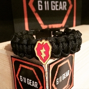 US Army - 25th ID Concho Paracord Bracelet