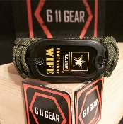 "US Army -""Proud Wife"" Paracord Bracelet"