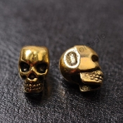 10 pcs Tibetan Silver Gold or Bronze Skull Beads