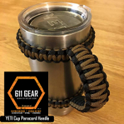 Black/Coyote Yeti /RTIC Tumbler Cup Paracord Handle
