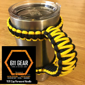 Yellow/Black Yeti /RTIC Tumbler Cup Paracord Handle