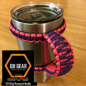 Hot Pink/Purple Yeti /RTIC Tumbler Cup Paracord Handle