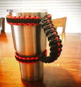 Thin Red Line / Black Yeti /RTIC Tumbler Cup Paracord Handle
