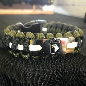 "US Army - ""101st Airborne"" Engraved Paracord Bracelet"