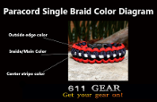 611 Gear Paracord Braid Width Color Diagram