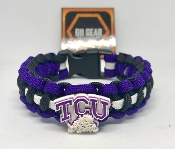 TCU Horned Frogs Paracord Bracelet