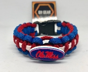 Ole Miss Rebels Paracord Bracelet