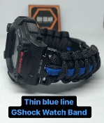 Custom Thin Blue Line GShock Paracord Watch Band