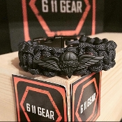 U S Army Rigger Subdued Wings Paracord Bracelet