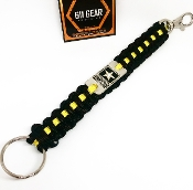 US Army Star - 6' Black w/Yellow Stripe Paracord KeyChain