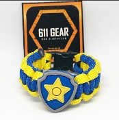 "Paw Patrol ""Chase Shield"" Kid's Paracord Bracelet"