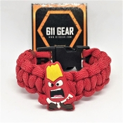 "Inside Out ""anger"" Kid's Paracord Bracelet"