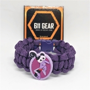 "Inside Out ""fear"" Kid's Paracord Bracelet"