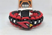 Arizona Cardinals - Black/Red/White Stripe Paracord Bracelet