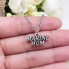 MARINE Mom charm NECKLACE chain military