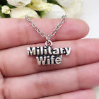 Military WIFE charm NECKLACE chain military