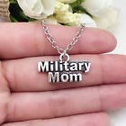 Military Mom charm NECKLACE chain military
