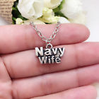 NAVY WIFE charm NECKLACE chain military
