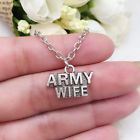 Army Wife charm NECKLACE chain military